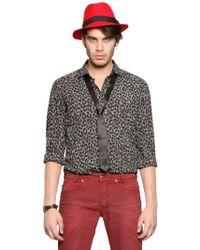 Diesel Leopard Printed Cotton Canvas Shirt - Lyst