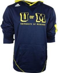 Adidas Mens Michigan Wolverines Campus Pu Hoodie - Lyst