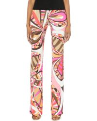 Emilio Pucci Printed Jersey Trousers - For Women - Lyst