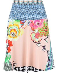 Etro Cotton Print Circle Skirt - Lyst