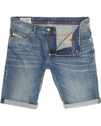 Diesel Blue Denim Shorts - Lyst