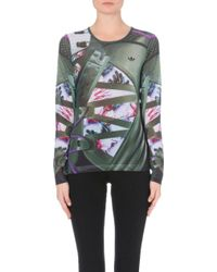 Mary Katrantzou Fitted Digital-print Mesh Top - Lyst