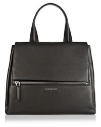 Givenchy Medium Pandora Pure Bag in Black Textured-leather - Lyst
