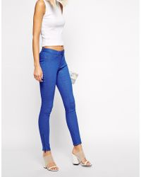 Cheap Monday Spray On Skinny Jeans With Zip Detail - Lyst