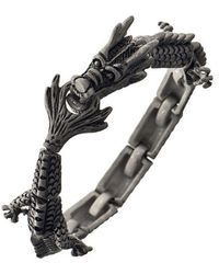 Ametallo - Drago Di Fuoco Stainless Steel Bracelet - Lyst