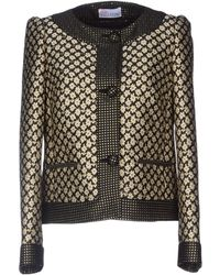 RED Valentino Metallic Floral Jacquard Satin Twill Jacket - Lyst
