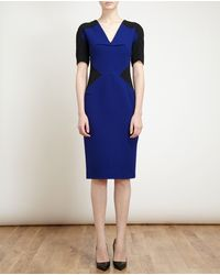 Roland Mouret Panelled Wool-crepe Dress - Lyst