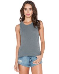 James Perse Inside Out Tomboy Tank gray - Lyst
