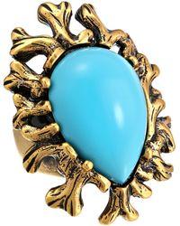 Oscar de la Renta Coral Branch Ring - Lyst