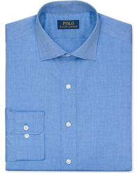 Ralph Lauren Polo Blue Gingham Dress Shirt - Lyst