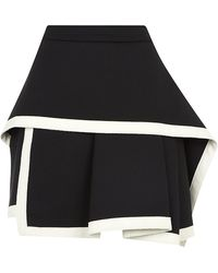 McQ by Alexander McQueen Stretch Wool Peplum Skirt - Lyst