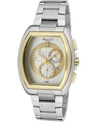 Kenneth Cole Mens Chronograph Silver Dial Stainless Steel - Lyst