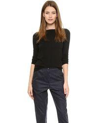 Theory Staple Naila Cashmere Sweater  Black - Lyst