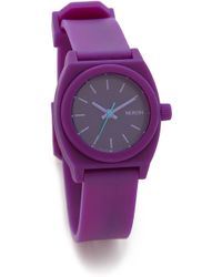 Nixon Small Time Teller P Watch - Hot Pink - Lyst