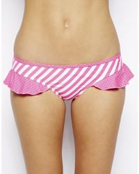 By Caprice - Muse Frill Hipster Bikini Bottom - Lyst
