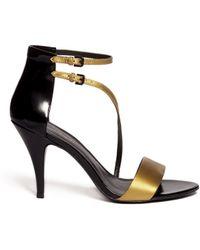 3.1 Phillip Lim Quill Metallic Strappy Sandals - Lyst