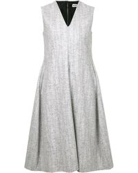 Jil Sander Gray Shift Dress - Lyst
