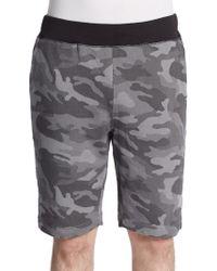 Michael Kors Camo Print Twill Shorts gray - Lyst