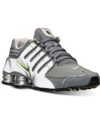 Nike Mens Shox Nz Eu Running Sneakers From Finish Line - Lyst