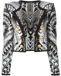 Balmain Cropped Jacket - Lyst