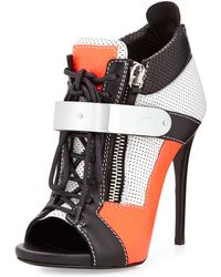 Giuseppe Zanotti Neon Sneaker Ankle Boot - Lyst