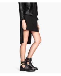 H&M Black Open Boots - Lyst