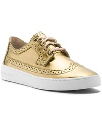 Michael Kors Piers Metallic Sneaker - Lyst