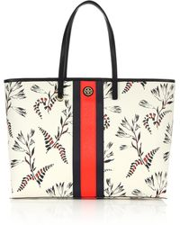 Tory Burch Kerrington Striped Floral Tote multicolor - Lyst