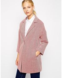 Helene Berman One Button Swing Coat - Lyst