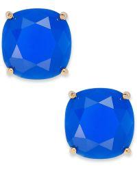 Kate Spade Gold-Tone Blue Stone Stud Earrings - Lyst