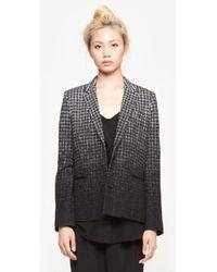 Public School Houndstooth Tailored Blazer - Lyst