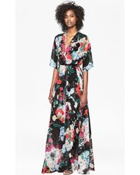 French Connection Floral-Reef Chiffon Maxi Dress multicolor - Lyst