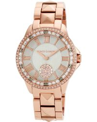 Vince Camuto - Women'S Rose Gold-Tone Stainless Steel Pyramid Stud Bracelet Watch 38Mm Vc-5160Gyrg - Lyst