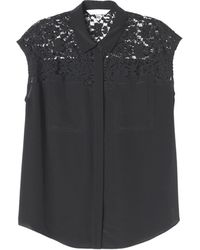 Rebecca Taylor Lace Pocket Top - Lyst