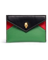 Alexander McQueen Skull Envelope Leather Card Holder - Lyst