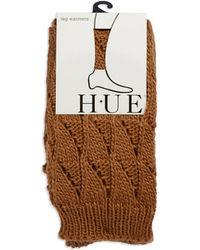 Hue Brown Textured Legwarmers - Lyst
