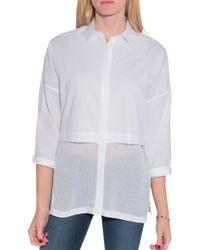 Helmut Lang Lawn Cotton Layered Shirt - Lyst