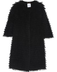 Moschino Tiered Ruffled Tulle Coat - Lyst