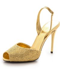 Giuseppe Zanotti Embellished Sandals Gold - Lyst