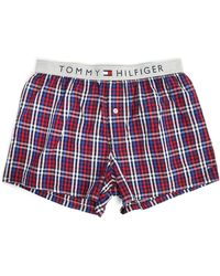 Tommy Hilfiger Bertsy Multicolored Check Boxer Shorts - Lyst