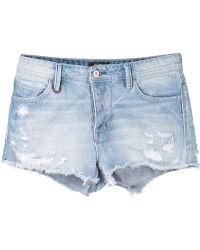 Neuw - Distressed Denim Shorts - Lyst