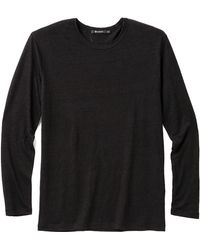 T By Alexander Wang Long Sleeve Linen Tshirt - Lyst