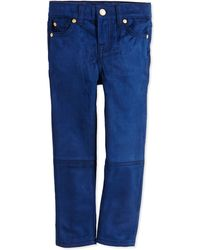 7 For All Mankind Skinny Sueded Jeans - Lyst