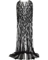 Zuhair Murad - Embellished Silk-blend Tulle Cape - Lyst