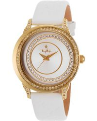 Thierry Mugler Women'S White Genuine Leather Silver-Tone Dial white - Lyst