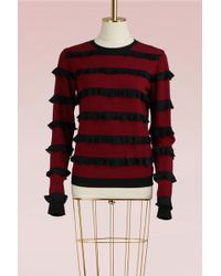 RED Valentino - Knit With Ruffles - Lyst