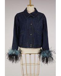 Prada - Feathers Denim Jacket - Lyst