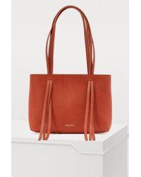 Mansur Gavriel - Vegetable-tanned Leather Mini Fringe Bag - Lyst
