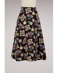 Valentino - Flower Pop Long Skirt - Lyst