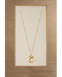 Louis Vuitton - Lv & Me Necklace, Letter E - Lyst